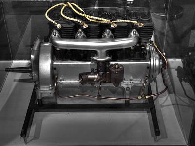 Aircraft Engine Component Photograph - Inline Engine Aeronautics V3 by John Straton