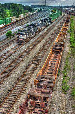 Photograph - Inman Intermodal Yard Atlanta Norfolk Southern Railway Locomotive 2665 Art by Reid Callaway