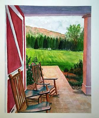 Painting - Inn At Manchester, Vt Sold by Richard Benson