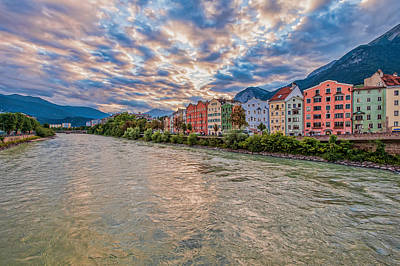 Photograph - Inn River, Innsbruck, Austria by Brenda Jacobs