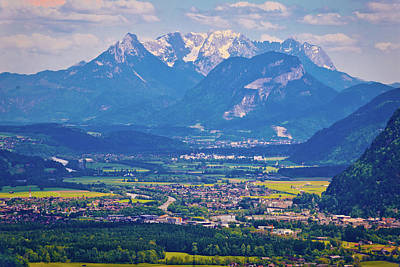 Photograph - Inn River Valley And Kaiser Mountains View by Brch Photography