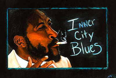 Austin Drawing - Inner City Blues by Anthony Welfed Austin