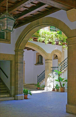 Photograph - Inner Courtyard by Herb Paynter