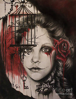 Gothic Mixed Media - Inner Demons  by Sheena Pike