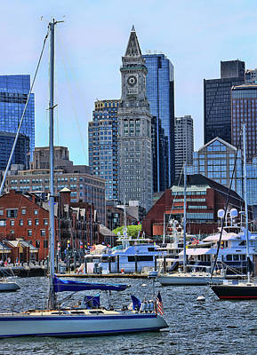 Photograph - Inner Harbor # 2 - Boston by Allen Beatty