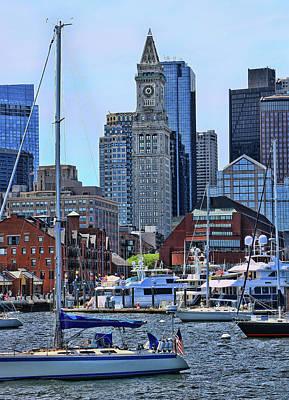Photograph - Inner Harbor # 2 - Boston by Allen Beatty
