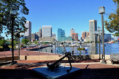 Inner Harbor Anchor Art Print