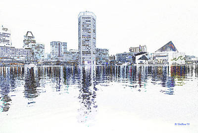 Inner Harbor - Baltimore Art Print