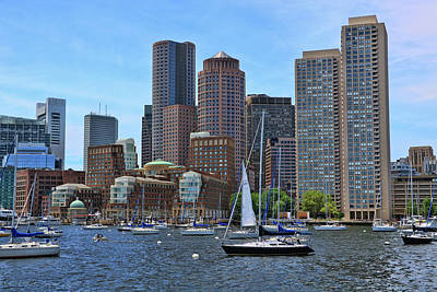 Photograph - Inner Harbor - Boston by Allen Beatty