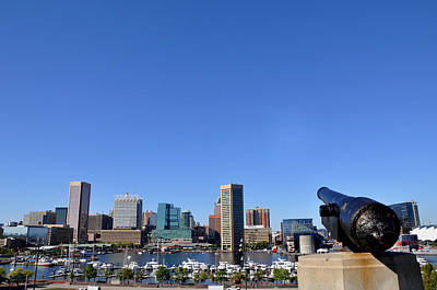 Photograph - Inner Harbor Cannon by Andrew Dinh