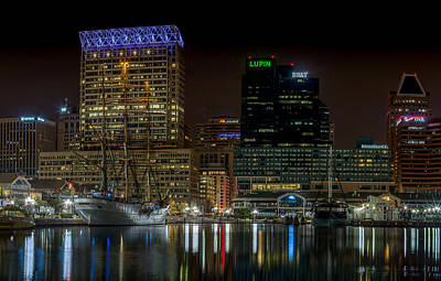 Defend Mixed Media - Inner Harbor Of Baltimore by Capt Gerry Hare