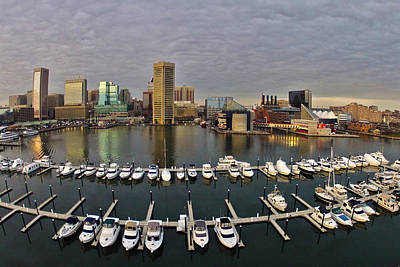 Photograph - Inner Harbor by Elevated Element