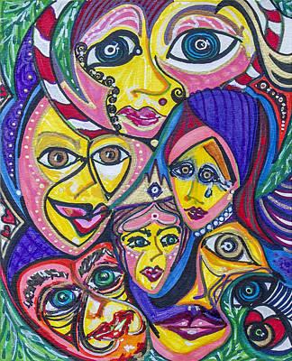 Painting - Inner Heart - X by Laurel Rosenberg