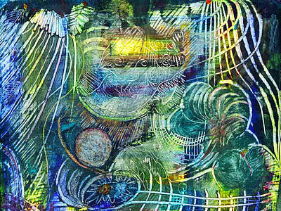 Inner World Painting - Inner Journey by Ishwar Malleret