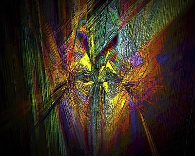 Art Print featuring the digital art Inner Labyrinth by Irma BACKELANT GALLERIES