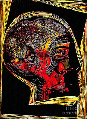 Avant-garde Mixed Media - Inner Man by Sarah Loft