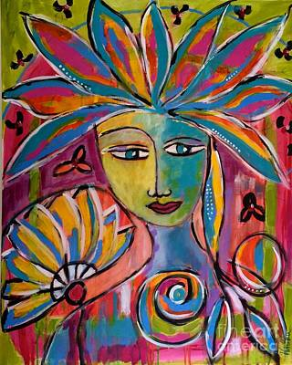 Painting - Inner Muse by Corina  Stupu Thomas