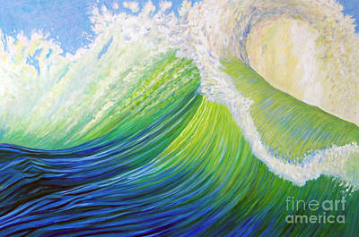 Waterscape Painting - Inner Ocean - Exaltation by Brian  Commerford