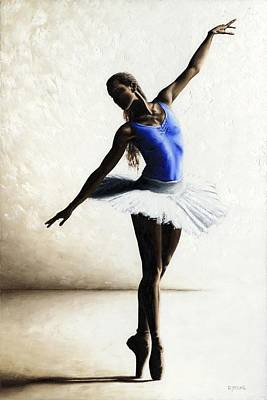 Ballerina Artwork Painting - Inner Peace by Richard Young