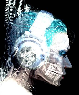 Trippy Digital Art - Inner Rythem by Bear Welch