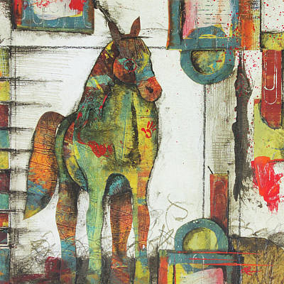 Horse Images Mixed Media - Inner Strength  by Laura Lein-Svencner