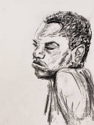Male Nude Drawing Drawing - Inner Strength by Robert Yaeger