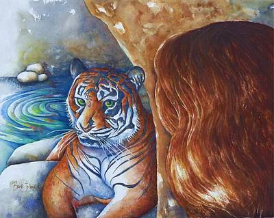 Painting - Inner Tigress by Barb Toland