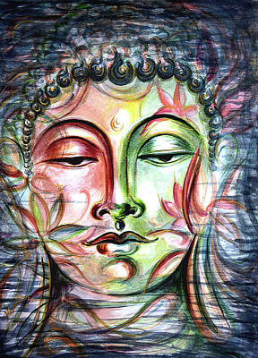 Yoga Painting - Inner Tranquility by Harsh Malik