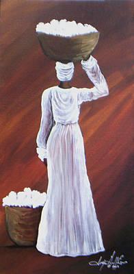 Gullah Art Painting - Inner Strength by Sonja Griffin Evans