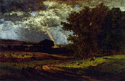 Inness George A Passing Shower Art Print by George Inness