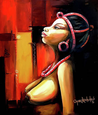 Painting - Innocence 1 by Oyoroko Ken ochuko