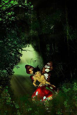 Elf Mixed Media - Innocence by Emma Alvarez