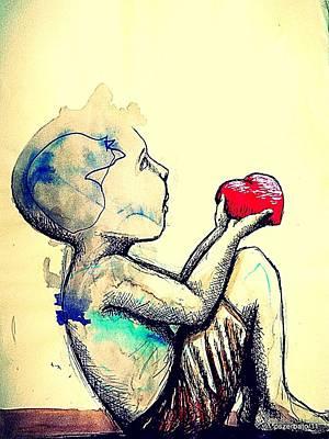 Emotionism Digital Art - Innocence In Admiration by Paulo Zerbato
