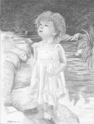 Angelic Drawing - Innocence Springs Eternal by Christopher Brooks