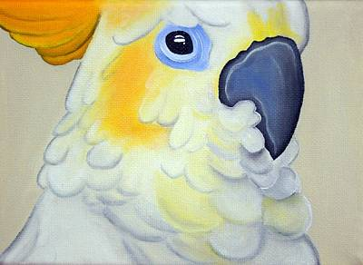 Parrot Painting - Innocence by Una  Miller