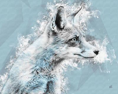 Fox Mixed Media - Innocent Eyes by Melissa Smith
