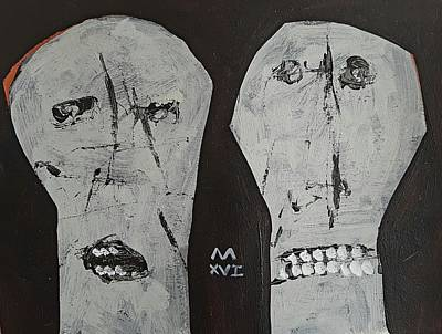 Outsider Art Painting - Innocents No 4  by Mark M Mellon