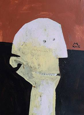 Outsider Art Painting - Innocents No 5 by Mark M Mellon