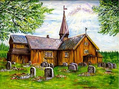 Innset Kirke -- Norway Art Print by Carol Allen Anfinsen