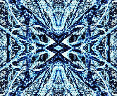 Blue Fig Digital Art - Tessiltree Blue by James Crout