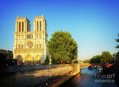 Photograph - Notre Dame In Sunset Light by Anastasy Yarmolovich