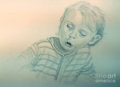 Drawing - Inquisitive Child by Robert Monk