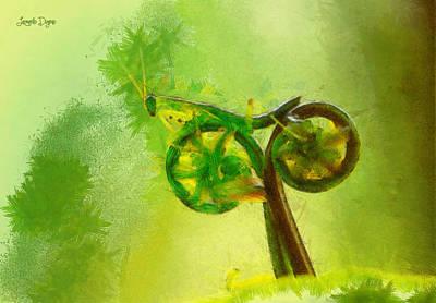 Herb Digital Art - Insect Byke - Da by Leonardo Digenio