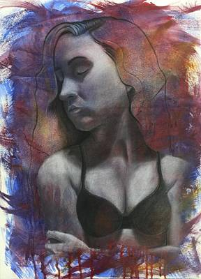 Self-portrait Mixed Media - Insecurities by Juliana Franzese