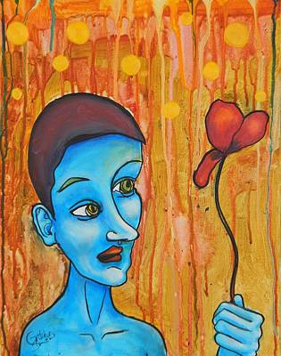 Androgyny Painting - Insecurity By Gretchen Smith by Gretchen  Smith