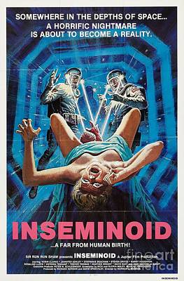 Painting - Inseminoid Somewhere In The Depths Of Space A Horrific Nightmare Is About To Become A Reality Movie  by R Muirhead Art