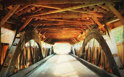 Photograph - Inside A Covered Bridge by Robin Regan