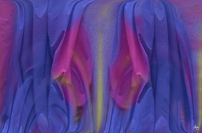 Photograph - Inside A Fabric Flower by Wayne King