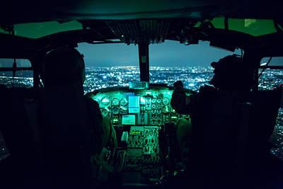 Cockpit Photograph - Inside A Huey Cockpit by Mountain Dreams