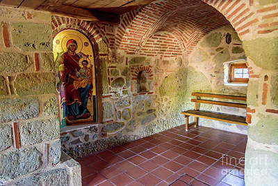 Photograph - Inside A Monastery At Meteora, Greece by Global Light Photography - Nicole Leffer